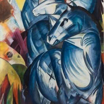 Franz Marc, La torre dei cavalli azzurri, 1913 - Sequestrato da Hermann Goering e scomparso dal 1945 ©️Oak Taylor Smith | Factum Arte | Sky