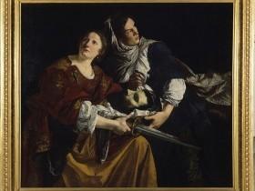 Orazio Gentileschi, Giuditta e l'ancella fuggono con la testa di Oloferne
