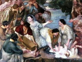 Armando Spadini, Mosè salvato dalle acque