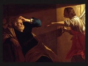 Gerrit van Honthorst, L'angelo libera Pietro dal carcere
