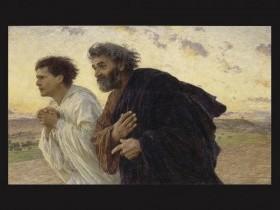 Eugène Burnand, Pietro e Giovanni corrono al sepolcro all'alba