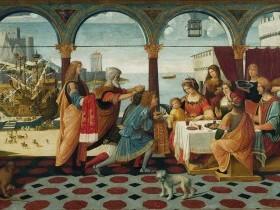 Bernardino de' Donati, Enea alla corte di Didone
