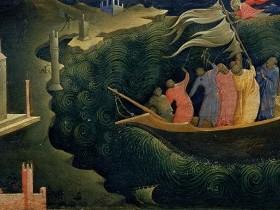 PIERO DI GIOVANNI DETTO LORENZO MONACO, San Nicola di Bari salva i naviganti