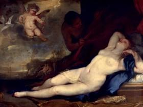 Luca Giordano - Venere dormiente e Cupido e Satiro