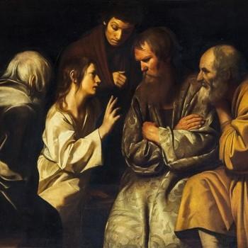 """""""Giovanni Antonio Galli detto lo Spadarino, Cristo tra i dottori, Palazzo Reale, Napoli"""